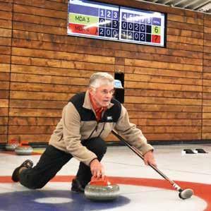curling mouvement des ainés