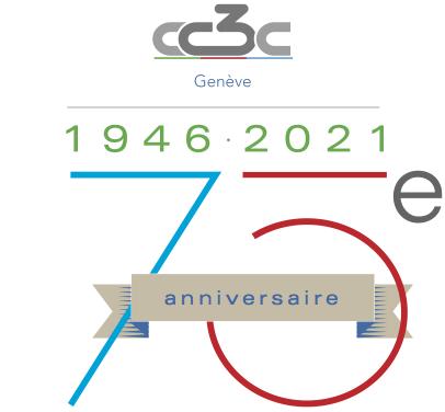 curling club trois-chêne genève 75 ans logo